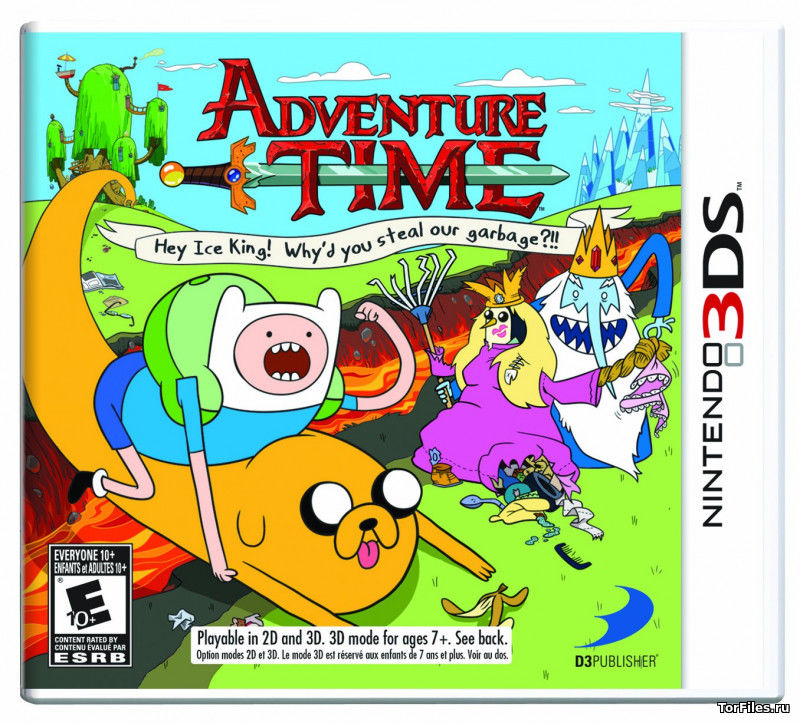 [3DS] Adventure Time Hey Ice King! Why'd You Steal Our Garbage [CIA][ENG]